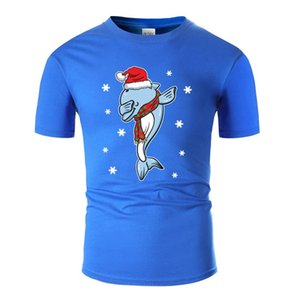 Create Dolphin Dabbing Xmas Christmas Present &Amp; T Shirt For Mens Cotton O Neck T-Shirts Plus Size S-5xl High Quality