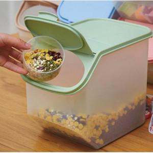PP Mühürlü Kutusu Depolama Namlu Konteyner Tahıl Tatlı 4 Renk Organizatör Rice Pratik Tahıl Bean Tankı Kitchen Toplama