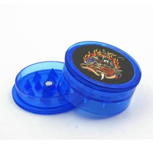 Wholesale Bob Marley plastic grinder and metal smoking pipes for dry herb tobacco pipe with 5 pipe screens Free DHL