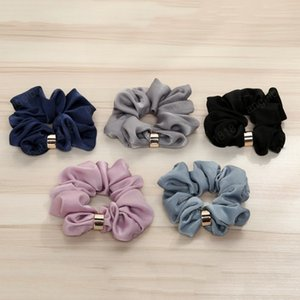 High quality simple fashion Net Color Hair Band Elastic Stretch Rope Head Jewelry Lady Girls Ponytail Women Simple Headwear