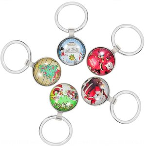 2019 jewelry buckle Fashion Santa Claus series Pendant key key chain chain accessories bag pendant