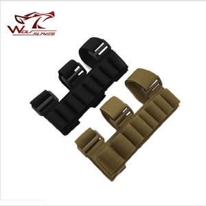 8 turni Munizioni shotshell Shooters Holder Carrier avambraccio manica Shotgun Mag Pouch Caccia accessori sacchetto tattico