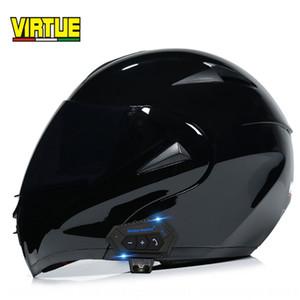 VIRTUE hommes et électrique de Bluetooth moto féminin double miroir casque intégral hiver casque Four Seasons demi-sécurité