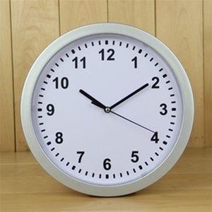 Horloges en plastique mur caché de stockage Boxs Ouvert Organisateur rond blanc Montre bracelet Coffre-fort suspendu Dissimulation Container de Bell 17hl C2
