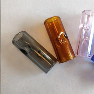 2020 New Fashion Cigarette Holder Glass Filter Tips Multicolour Easy To Clean Smoking Pipe Popular HotSale 0 6sg D2
