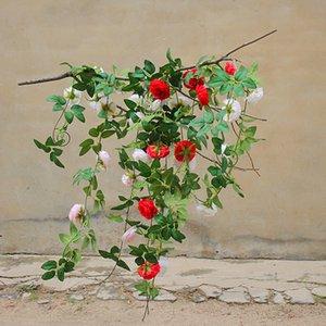 Simulation Peony Rattan Flower Wedding Artificial Flower wreath Living Room Decoration Fake vine Flower door hanging decoration