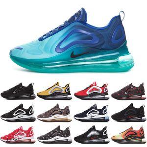 Nike Air Max 720 koşu ayakkabıları 2020 Metalik Platin erkek Obsidyen kadınlar yarar Açık Ayakkabı Koşu Yürüyüş Yürüyüş minderinin spor ayakkabılar 72c Chaussure