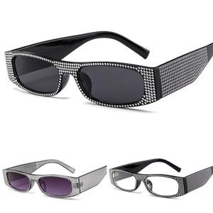 Imitation Diamond Sunglasses Women Brand Designer Luxury Square Rhinestone Sun Glasses Ladies Rectangle Eyewear Shades