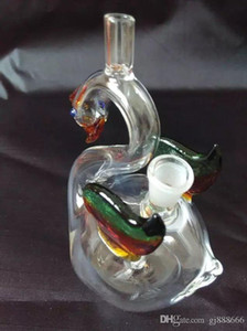 Color Swan Water Hose Glass Bongs Accessories   , Glass Smoking Pipes colorful mini multi-colors Hand Pipes Best Spoon glas