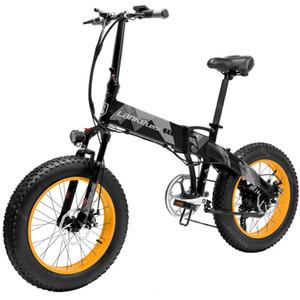 Neues Off Road elektrisches Fahrrad zwei Räder Elektro-Fahrrad 1000W 48V 35KM / H 10.4AH LANKELEISI XT2000 Fat Tire Schnee faltbarer elektrischer Roller