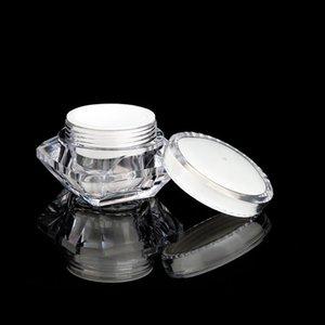 15g / ml Estilo Pot acrílico cosmética diamante frasco vacío de sombra de ojos maquillaje de la cara Crema Crema de cacao Envase botella de muestra LJJP125 Embalaje