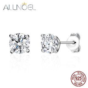 ALLNOEL argent 925 pour les femmes 5A blanc Zirconium Boucles d'oreilles diamant Stud fiançailles platine mariage haute joaillerie
