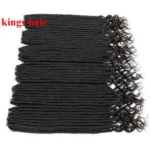 """Faux Locs Curly Termina Crochet tranças do cabelo 20"""" 18strand / embalar longo e médio Tamanho Crochet Synthetic cabelo trança"""