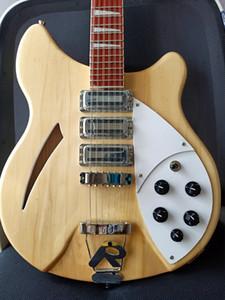 12 문자열 기타 모델 (370) Mapleglo 1994 릭 빈티지 토스터 픽업 일렉트릭 기타 세미 할로우 바디 자연 로즈 우드 삼각형 MOP