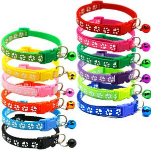 Attaccando panno piccola campana del cane collare a catena singola impronta cani e gatti Pet Stretch Collana regolabile multi colore Selezione 0 85qqa D2