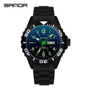 Sunda's new quartz watch for male and female middle school students cool waterproof fashion watch with week and calendar