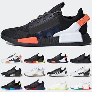 NMD R1은 신발 남성 여성 실행 멕시코 시티 뮌헨 배 블랙 화이트 신호 산호 아쿠아 금속 골드 트레이너 스포츠 운동화 크기 36-45 망
