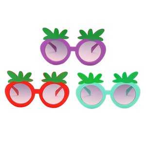 3pcs Kid Strawberry Sunglasses Beach UV400 Glasses Party Eyewear Accessories