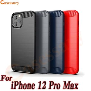 Kohlenstoff-Faser-Beschaffenheit TPU für iPhone 12 Pro Max Se 2020 LG Stylo 6 Harmony 4 Velvet Pixel 5 Samsung Anmerkung 20
