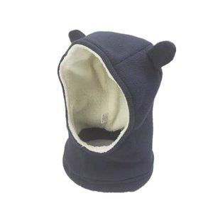 Chapéus crianças Caps Fleece Hat Scarf One Piece Ear Urso bonito Cap Cachecol bebê Chapéus Meninos Inverno Chapéu de Crianças Caps
