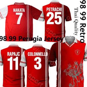 2020 بيروجيا الرجعية لكرة القدم جيرسي 98 99 Associazione Calcistica بيروجيا 1998 1999 كالتشيو NAKATA RAPAJC PETRACHI خمر كرة القدم الكلاسيكية الأعلى