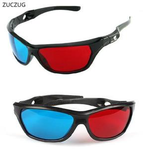 ZUCZUG novo quadro preto óculos Universal de plástico 3D / Oculos / Red Ciano Azul 3D de vidro Anaglyph filme 3D Jogo DVD visão / cinema