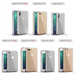 TPU anti-caduta per iPhone 11 PRO trasparente Mobile Phone Case Cuscino XR XS Max Air per iPhone 6S 7 8 Plus con scatola al minuto