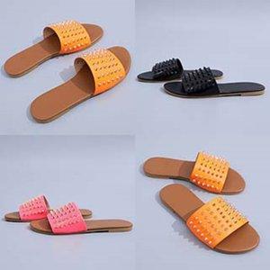 De mujeres Dener piel del deslizador de las chancletas de Dener piel niñas niños Zapatillas Fasion Dener mujeres Soes O Yea mujeres Soes sandalias # 509