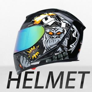 Hot selling Motorcycle Helmet Full Face Casco Moto Washable Lining Double Visor Motocross Helmet Motorbike Capacete Moto Helmets OjE4#