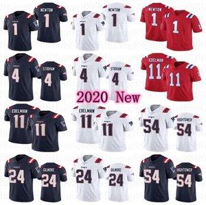 Nova 2020 Homens EnglandsPatriotajérsei # 11 Julian Edelman um jérsei Cam Newton 24 Stephon Gilmore 54 Dont'a Hightower 4 Jarrett Stidham