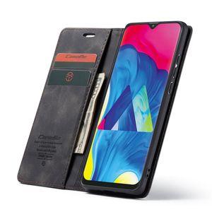 CaseMe-003 Многофункциональный ретро матовый горизонтальный флип кожаный чехол для Galaxy M10, с слот для карты держатель Zipper Wallet фоторамке