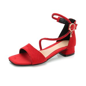 Girls High Heel Sandals Suede Princess Shoes Korean-Style Open Toe Sandals Childrens Shoes Students Cross-Border Foreign Trade