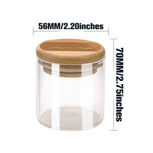 Thick Glass Wood Silicone Seal Storage Bottle Dry Herb Tobacco Spice Miller Stash Case Grinder Cigarette Smoking Box Holder Accessories DHL