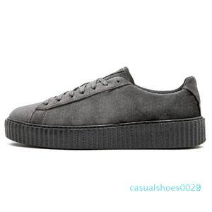 1Discounts PM Rihanna Fenty Creeper 2019 de plataforma clássico calçados casuais Velvet Rachado Couro Suede Homens Mulheres Moda Designer Sneakers c22
