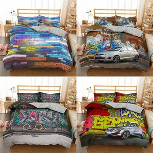 Vintage Car Famous 3D Printed Bedding Sets Duvet Cover and Pillowcase Home Textiles Luxury Bedding Set Digital Printing