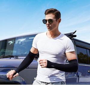 Cool Fashion Outdoor Sports Ice Silk luva Ice Respirar Luvas Protetor solar Sleeve Verão Arm Warmers para o ciclismo equitação Training
