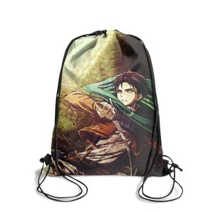 Attack On Titan levi green Fashion Sports Belt Backpack,Design Cool Suitable For Outdoor gray orange red rivaille white yellow mikasa on