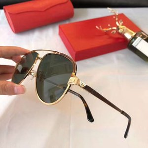 النظارات الشمسية الطيار النظارات الشمسية تصميم الذهب أزياء الشمس CT0192S نظارات نظارات شمسية رجالية خضراء خاصة جديد مع صندوق أميلم