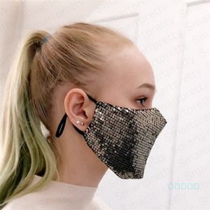 Glitter Mermaid Sequins Protective Mask PM2.5 Dustproof Mouth Cover Washable Reuse Face Mask Adjustable Elastic Earloop Mouth Cover E4902