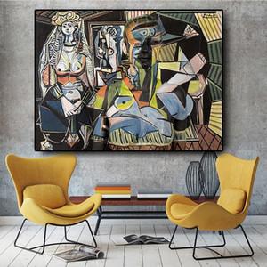 Donne di Algeri di Pablo Picasso famoso della pittura a olio riproduzioni d'arte Poster Stampe parete Immagine Soggiorno Home Decoration