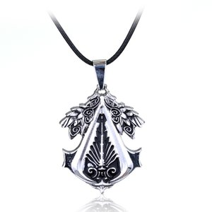 2020 Trendy Classic Game Accessories Assassin's Creed Gear Zinc Metal Pendant Necklace Gifts Casual Choker Rope Chain