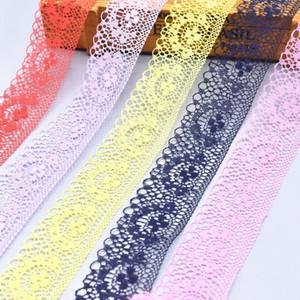 Доставка DHL 10 ярдов / рулон красочные кружева ленты лента 40мм уравновешивания шнурка DIY Вышитые для шитья Украшение African ткань шнурка