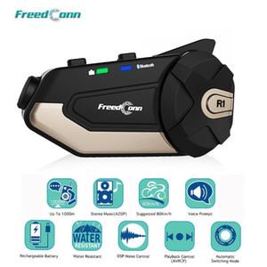 Motorcycle Intercom Freedconn R1 Wi-Fi 1080P HD камера Bluetooth 4.1 гарнитура шлема InterComunicadores de Casco Moto