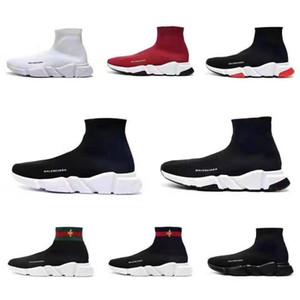 2020 New Paris vitesse Formateurs Knit Sock chaussure originale luxe Hommes Femmes Chaussures pas cher High Top qualité Chaussures CasualBalencia`ga 36-45
