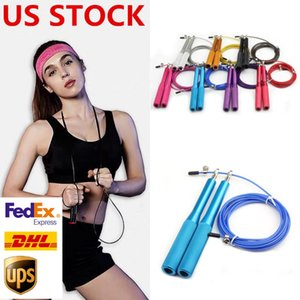 US STOCK 2-3 Days Delivery Jump Rope Crossfit Jump Rope Adjustable Jumping Rope Training Fitness Speed Skip Training FY7051