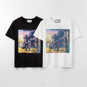2020.Fashion Mens T Shirt Summer T Shirt High Quality Mens Stylist T Shirt Hip Hop Men Women Black Short Sleeve Tees Size S-XXL
