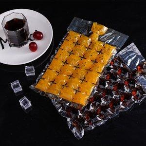 EzoCB creativo barra de bebidas refrigerador latt fabricación de moldes desechables bloque frío herramienta abrasiva para fabricar bolsas 10 cubos de hielo bolsa de cubitos de hielo beber frío
