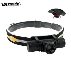 VastFire 1000 Lm USB recargable 18650 cabezal de la antorcha Zoomable XM-L2 LED 4 faro de los modos Caza Bicicleta Faro