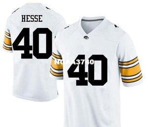Frauen Iowa Hawkeyes Parker Hesse # 40 LADIES echte Voll Stickerei College Football Jersey-Größe S-4XL oder benutzerdefinierten beliebigen Namen oder Nummer Jersey