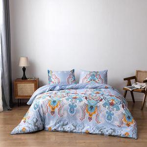 Bonenjoy Bohemia Bed Cover American Style Duvet Cover Single Queen King Quilt and Pillowcase dekbedovertrek Bedclothes